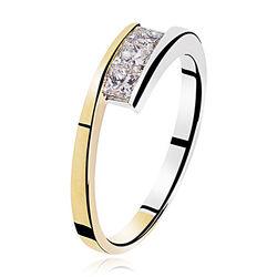 Bicolor ring Princess slijpsel
