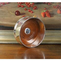 Zilveren flessenonderzetter houten bodem Carrs flessenbak bocst2/5