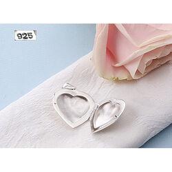 zilveren medaillon hart bloem patroon
