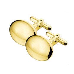 Gouden manchetknopen ovaal
