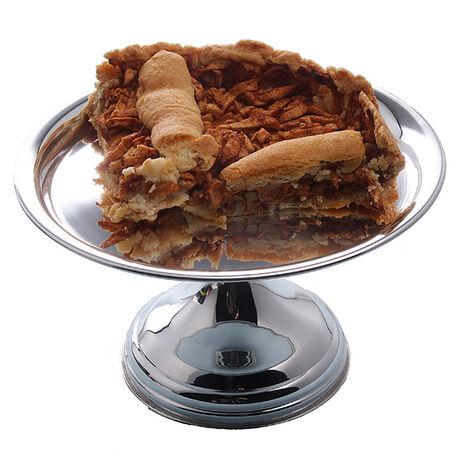 verzilverde taart plateau