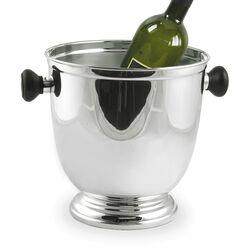 Verzilverde Wijnkoeler Houten Handvaten
