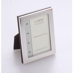Gladde zilveren fotolijst 9 x 6 cm Carrs