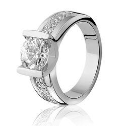 Zinzi ring met veel zirconia Zir576