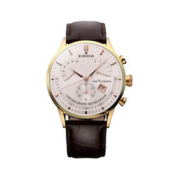 Edox Chronograph Retrograde Donkerbruin 01505 37r air