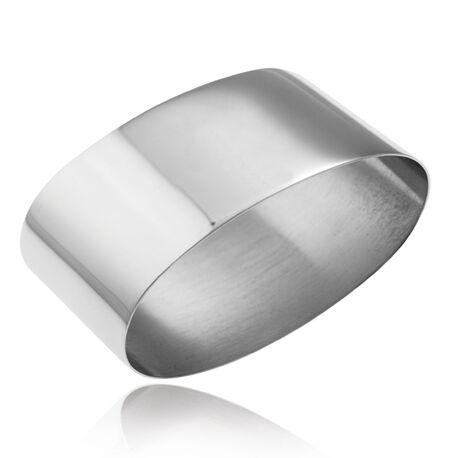 ovale verzilverde servetring Carrs nap6 graveerbaar
