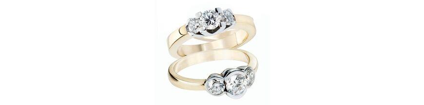 Goud met diamant