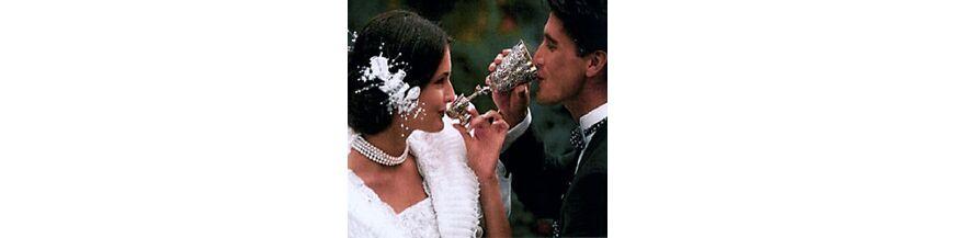 Zilveren bruidsbekers
