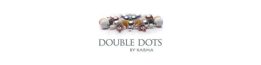 Double dots tribal oorbellen