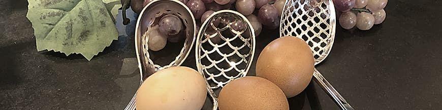 Zilveren eierlepels