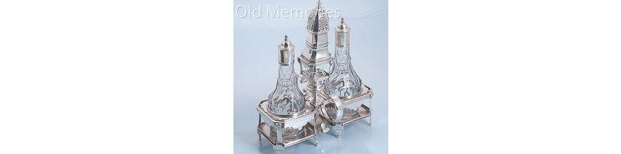 Antiek Kristal met zilver