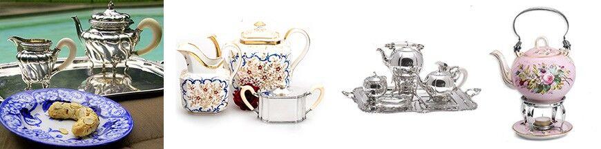 Zilveren theebussen