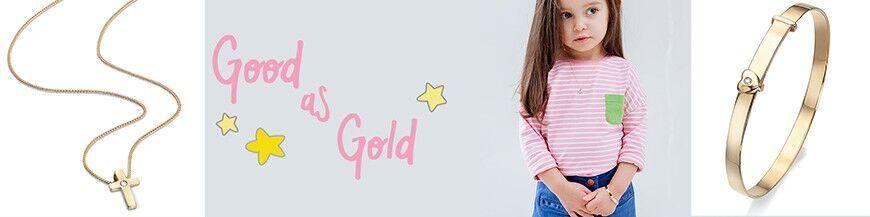 Gouden kindersieraden