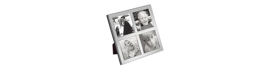Zilveren fotolijst meerdere foto's
