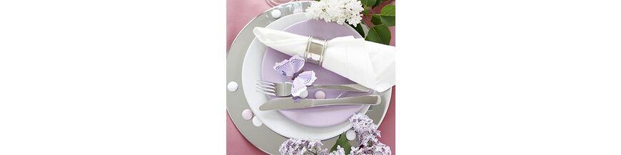 Zilveren servetband of klem