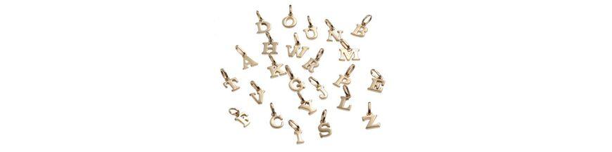 Gouden alfabet letters