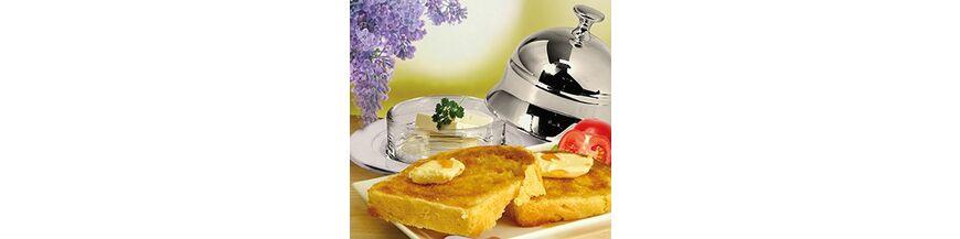 Verzilverde boter & jampotjes