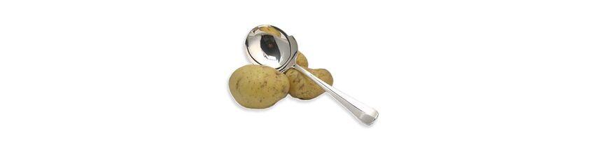 Zilveren aardappellepels