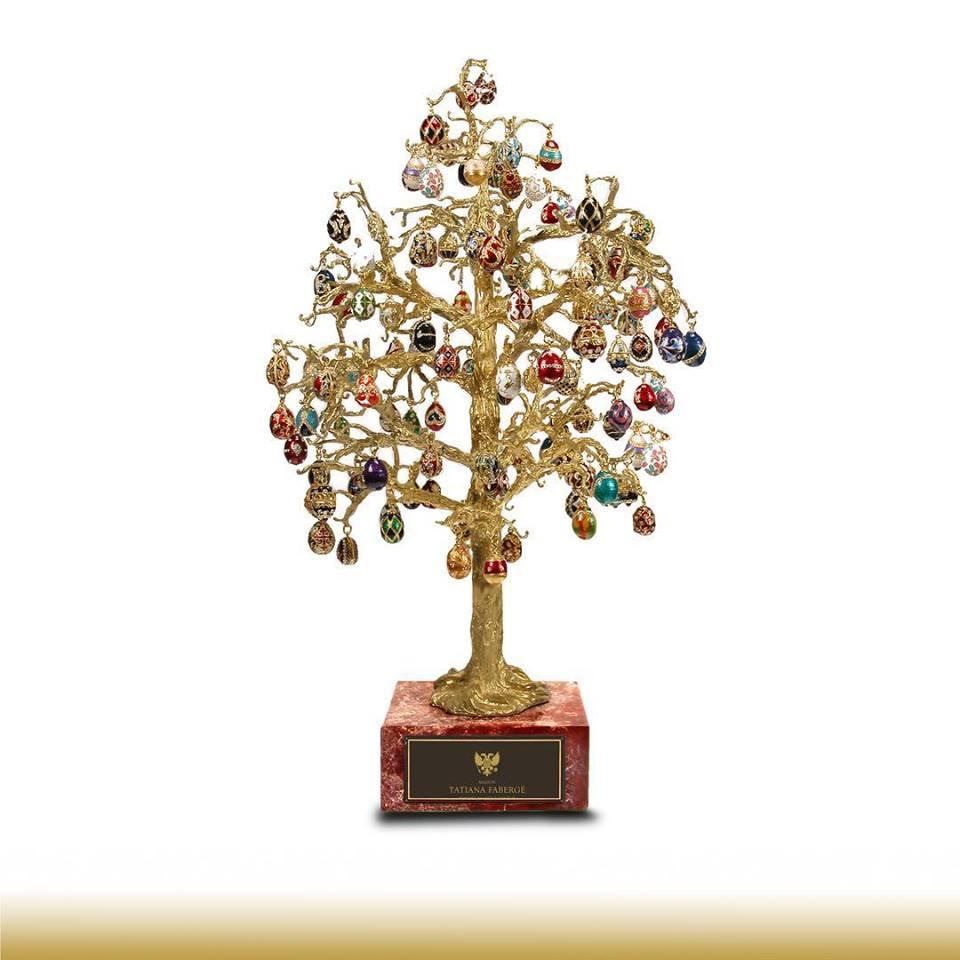 Gouden collier met ei hanger van Fabergé Zilver.nl