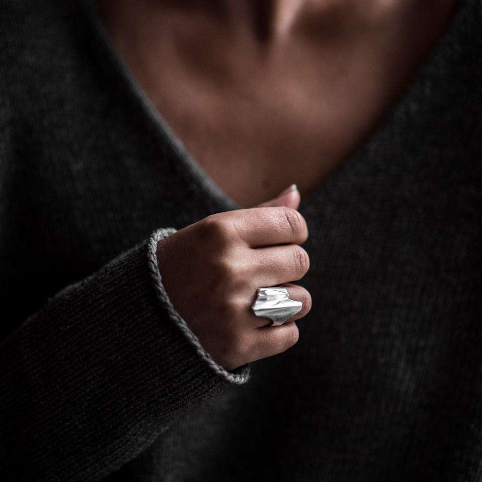 zilveren shuttle ring van Lapponia