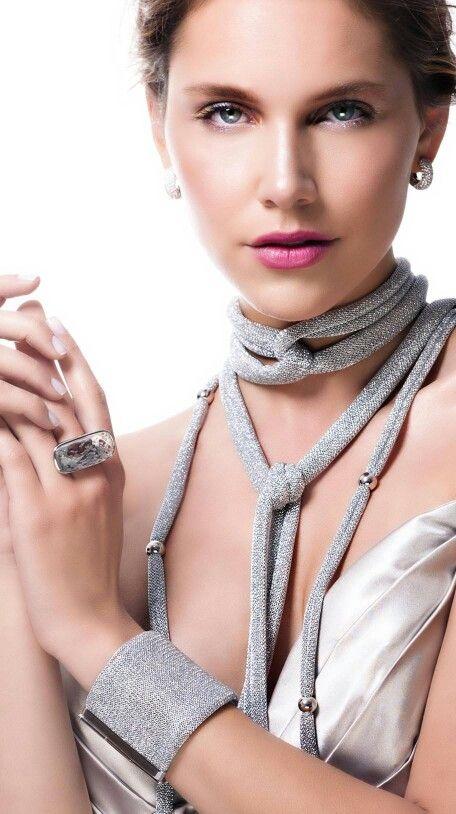 Verguld mesh armband met zilver slot Adami en Martucci