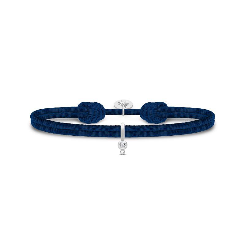 Julie Sandlau charity armband donkerblauw