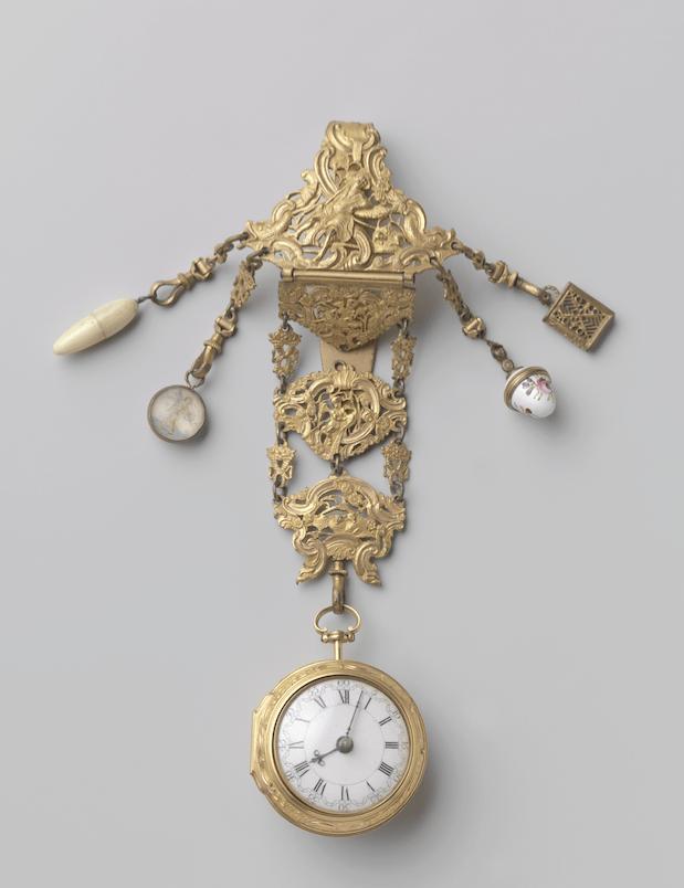 Gouden chatelaine in girandole vorm Londen 1778-1779 Kennisbank Zilver.nl