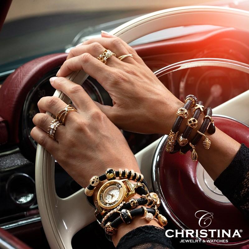Christina leren armband online bij Zilver.nl