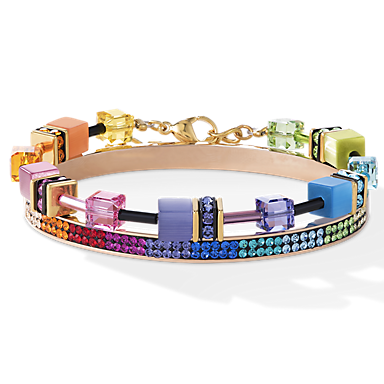 geocubes collier multicolor coeur de lion