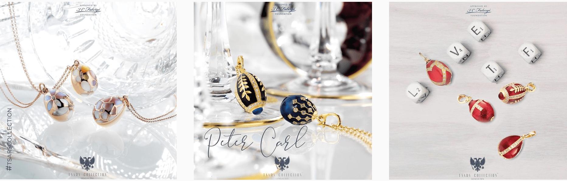 Gouden en zilveren sieraden uit de Tsars Collectie van Faberge bij juwelier Zilver.nl