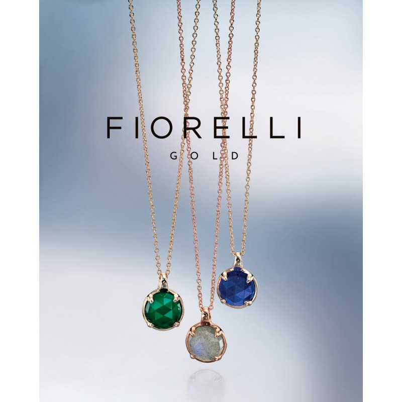 Witgouden ring groen onyx Fiorelli