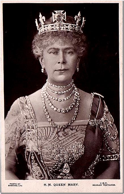 Koningin Mary met de kroon met fleur-de-lys Kennisbank Zilver.nl