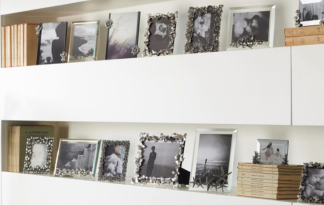 Zilveren fotolijstje met hartjes van Raspini