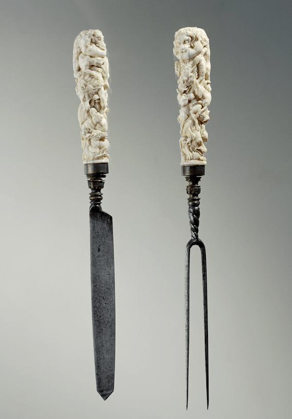 17e eeuws bestek met ivoren heften kennisbank Zilver.nl