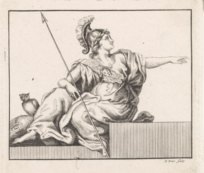 Afbeelding van godin Minerva die onderdeel uitmaakt van het groot zilverkeur Kennisbank Zilver.nl