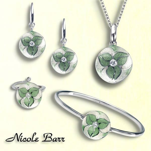 Nicole Barr bloemhanger met wit saffier