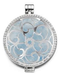 MY iMenso medaillon zirkonia 33-0070 blauwe steen en cover