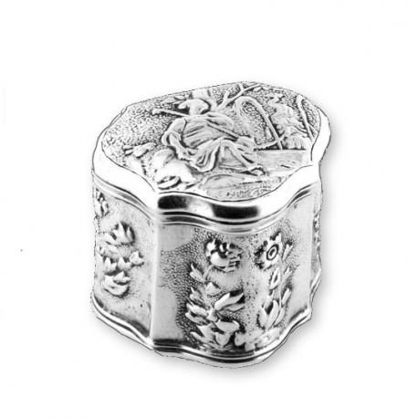 Zilveren lodereindoosje