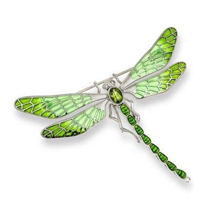 Zilveren broche libelle vensteremaille bij Zilver.nl juwelier