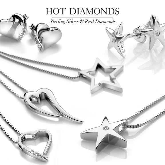 Hot Diamonds collier met hart medaillon DP142