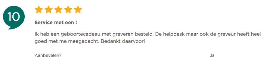 Kiyoh klantenbeoordeling van Zilver.nl met een 10!