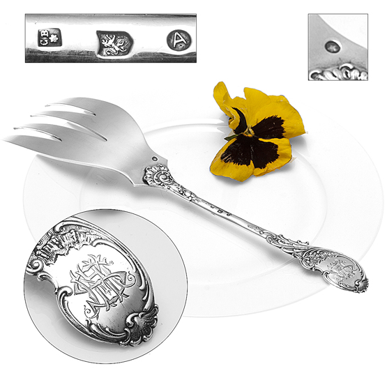 Zilveren-Visdienvork-Neo-Stijl miniatuur 2