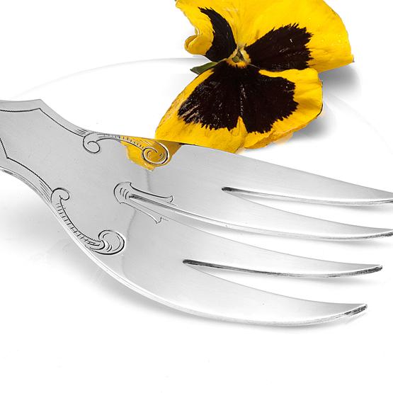 Zilveren-Visdienvork-Neo-Stijl miniatuur 3
